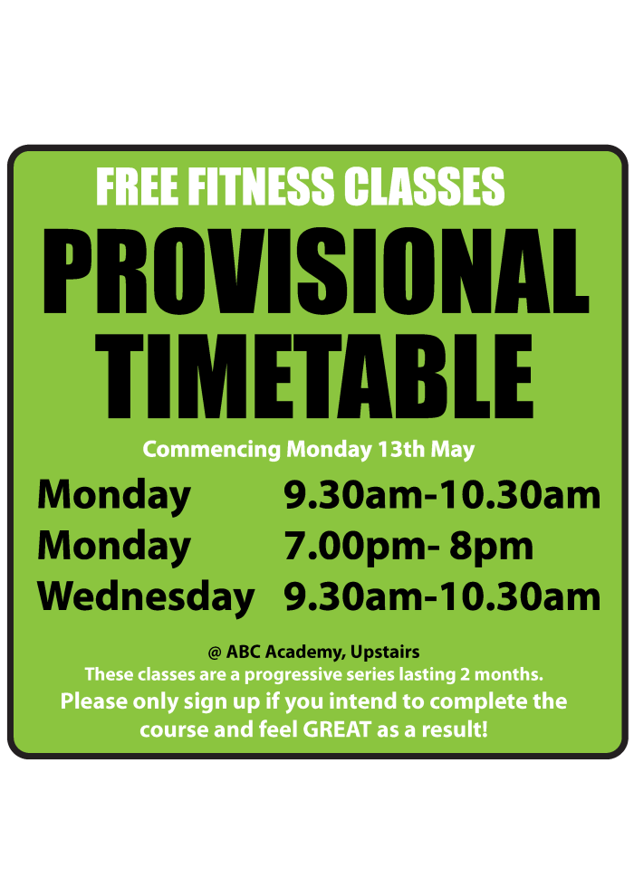 Timeline feed KWC fitness classes timetable